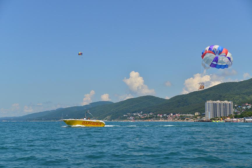 Полёт на парашюте в Лазаревском