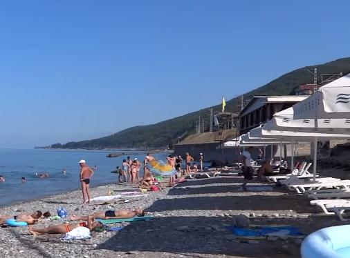 Пляж Фламинго Лазаревское