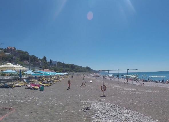 Пляж Одиссея Лазаревское